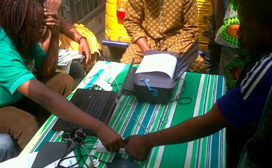 nigeria electronic voter registration station